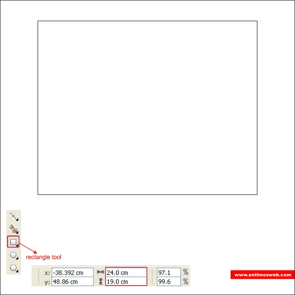 "resize image online in cm. Create the third box using "" Rectangle Tool "" and resize it to 24 x 19 cm."