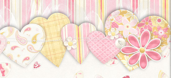 Hearts, Flowers & lace Facebook Cover