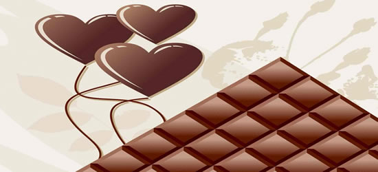 Chocolate Love Hearts Facebook Cover