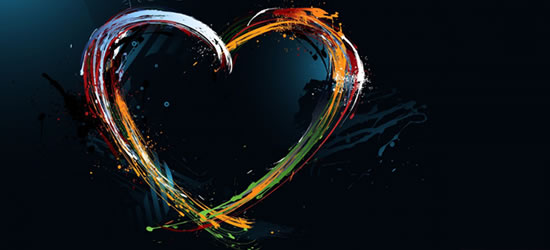 Heart Paint Facebook Covers