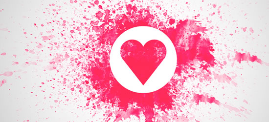 Exploded Heart Facebook Covers