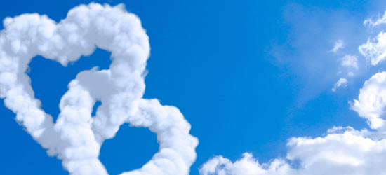Heart Clouds Facebook Covers
