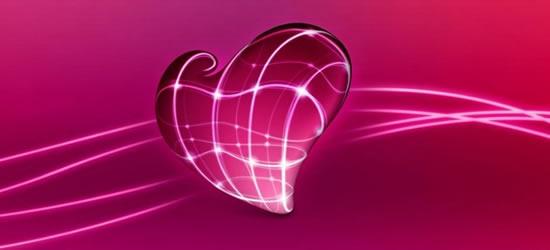 3D heart facebook cover