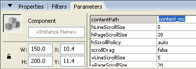 ScrollPane Parameters