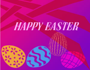 free happy easter image - purple background