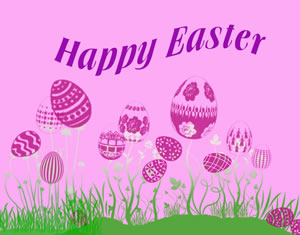 free happy easter graphic - pink background