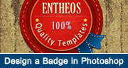design a badge in Photoshop