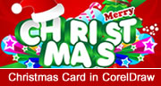 Christmas Card Design in Coreldraw