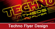 techno flyer design