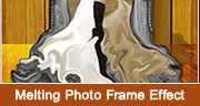 Melting Photo Frame Effect in Photoshop