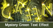Mystery Green Text Effect in Photoshop