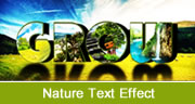 Nature Text Effect in Photoshop