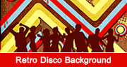 Retro Disco Background Design in Photoshop