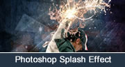 Water & Light Splash Effect in Photoshop