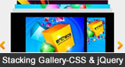 stacking gallery in css & jquery