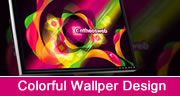 colorful wallpaper design in coreldraw