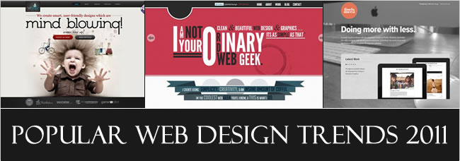 popular web design trends 2011