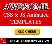 awesome css & js animated website templates