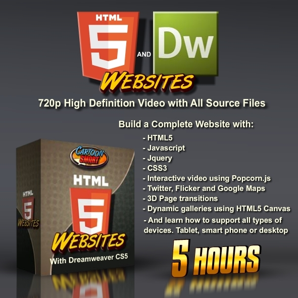 HTML5 and Dreamweaver Website Video Tutorial