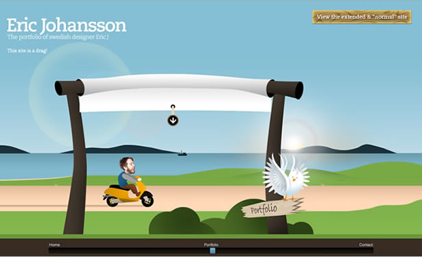 3D Feel With Parallax Scrolling