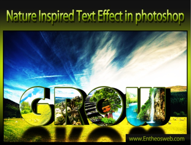 Nature Inspired Text Effect in Photoshop