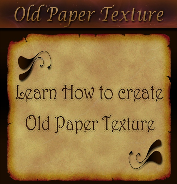 create an old paper texture from scratch in photoshop