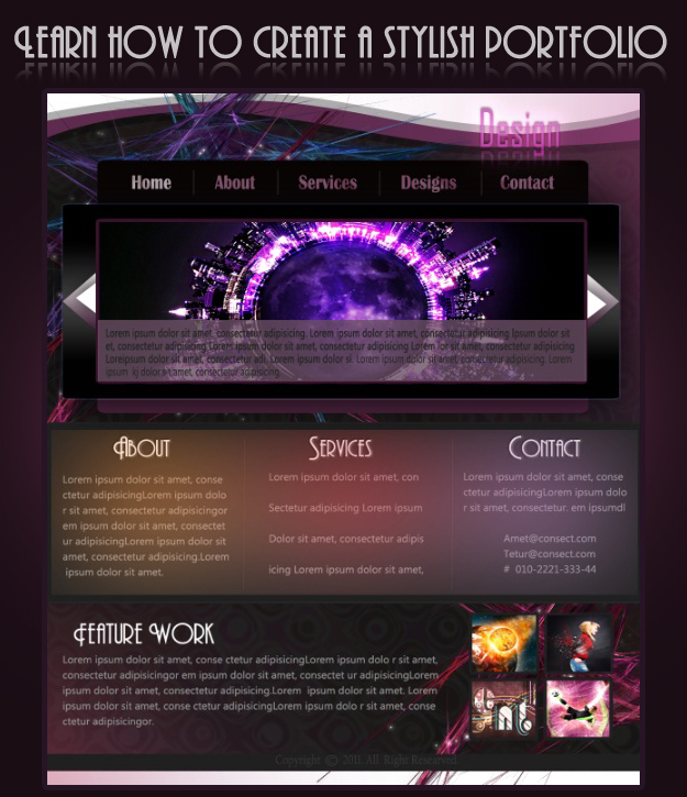 Photoshop Portfolio Template: Learn How To Design A Stylish Portfolio Layout In Photoshop