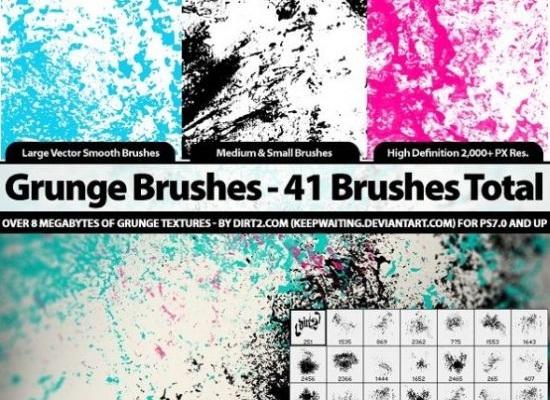 20 Awesome High Quality Grunge Photoshop Brush Sets