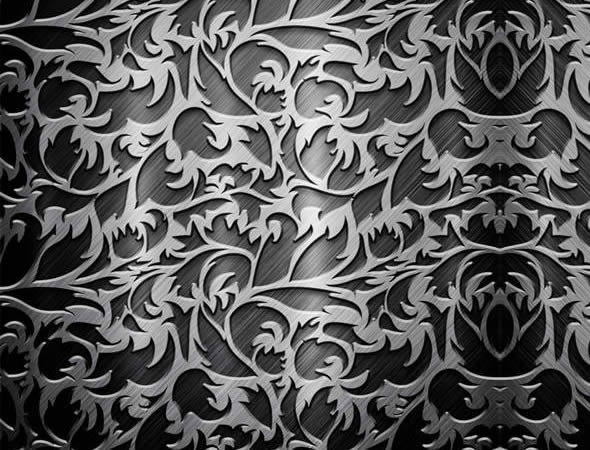 Silver Color Metal Jali Pattern : Metallic textures
