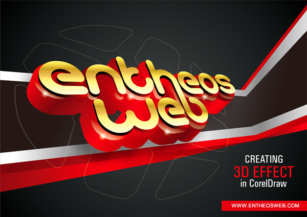 How to create a 3D Text Effect in Corel Draw | EntheosWeb