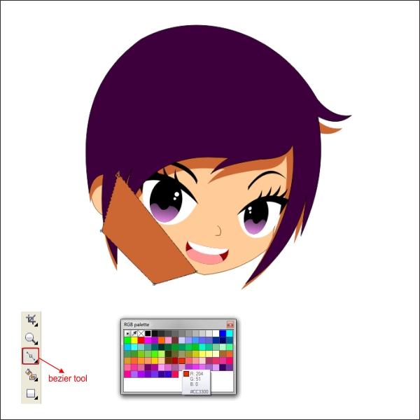Drawing An Anime Cartoon In Corel Draw