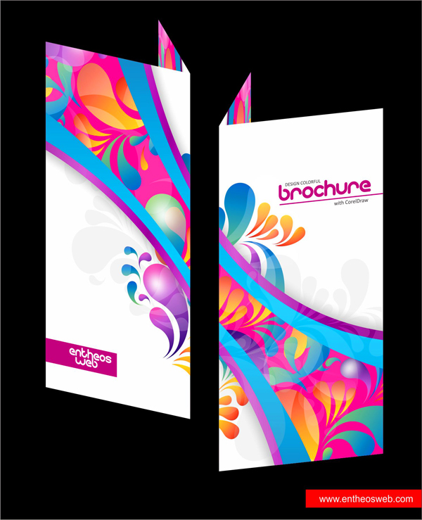 Colorful Brochure Design in CorelDraw – Free Pamphlet