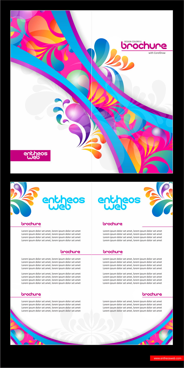 colorful brochure design in coreldraw