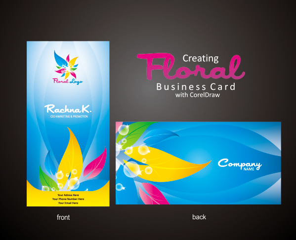 Business card design in coreldraw business card design reheart