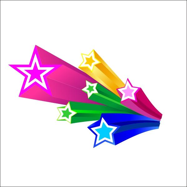 Galerry cartoon colored stars