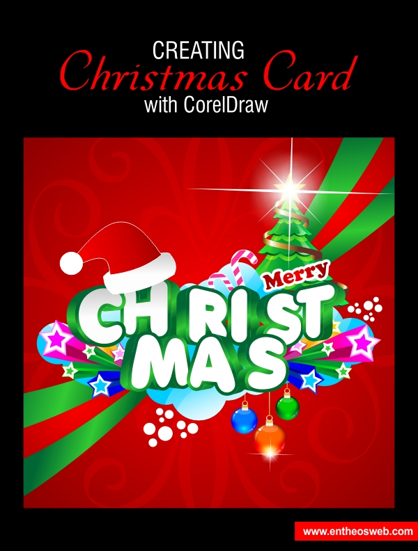 Christmas card design in corel draw reheart Image collections