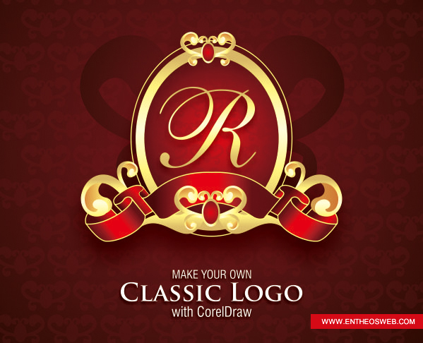 classic logo design in Corel Draw