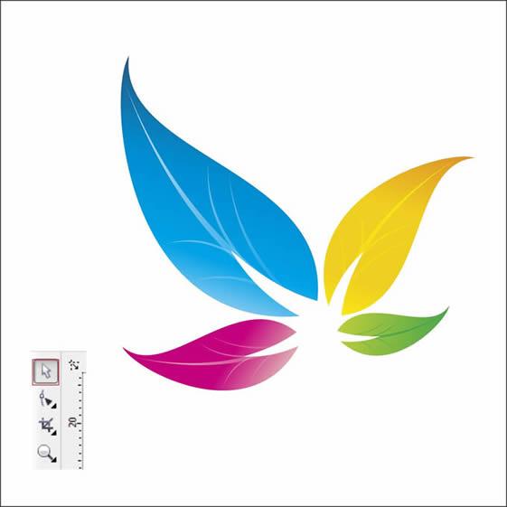 Colorful Floral Logo Design In Corel Draw