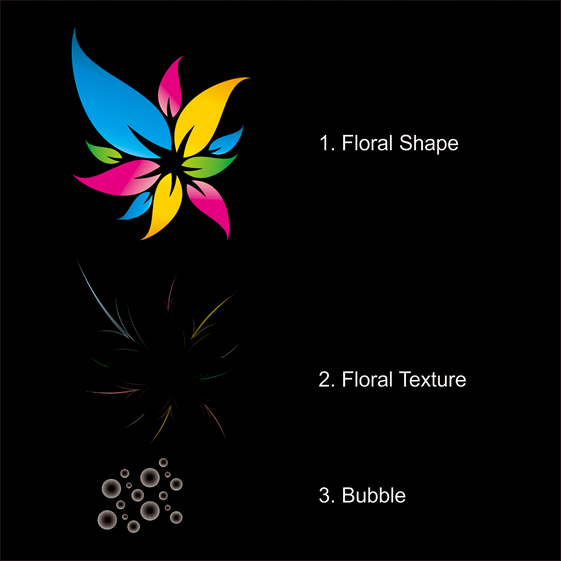 bunga deisgn langkah tutorial logo