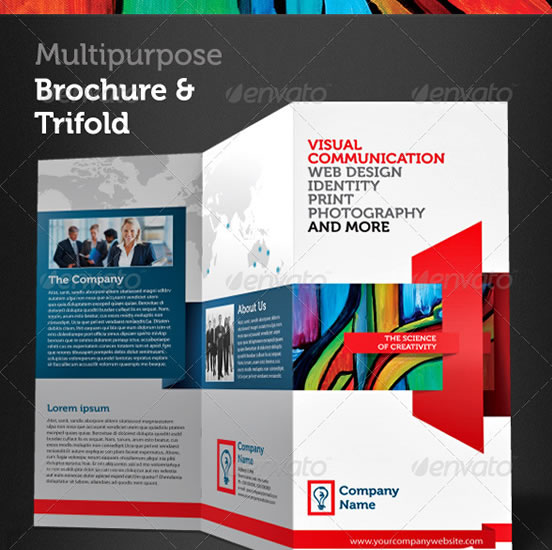 Creative Tri Fold Brochure Design Templates