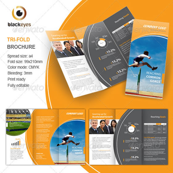 indesign 3 fold brochure template - creative tri fold brochure design templates