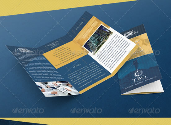 Creative tri fold brochure design templates for 3 fold brochure template psd