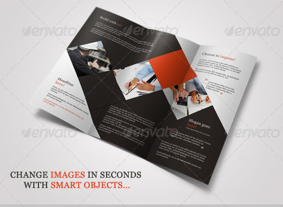 Creative tri fold brochure design templates for Interesting brochure designs