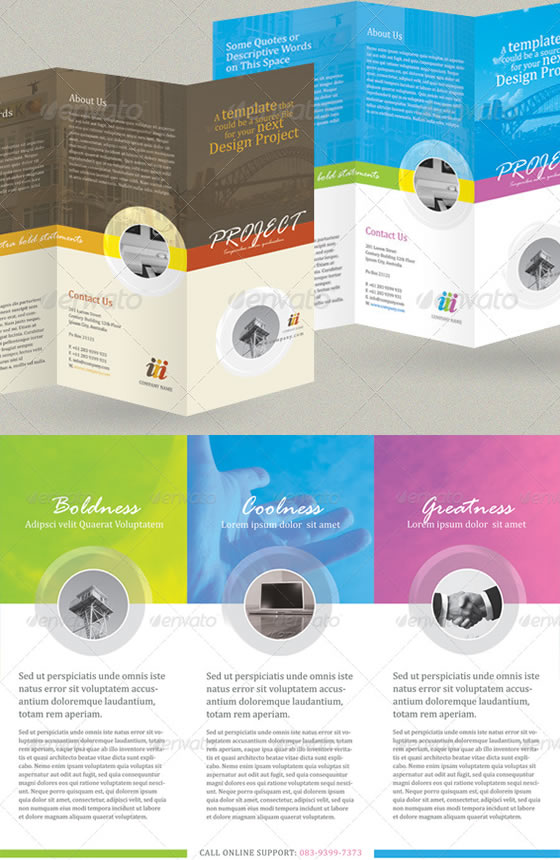 Creative tri fold brochure design templates for Tri fold brochure template illustrator