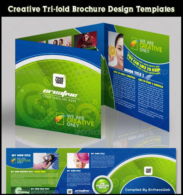Creative Trifold Brochure Design Templates - Tri fold brochure template download